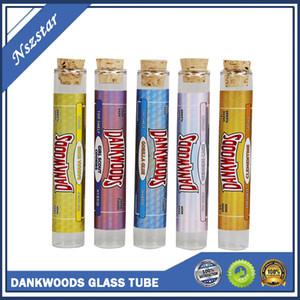 Yeni Dankwoods Boş Cam Tüp Ahşap Mantar İpuçları Kartuşları Kuru Herb Bitkisel RAW Ön Rulo Tatlar Çıkartmalar Packwoods Moonrock E Sigara Buhar