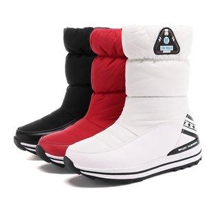 Hot Sale MORAZORA Plus size 31-43 Snow boots women's shoes platform waterproof winter boots female white warm cotton shoes ankle boots