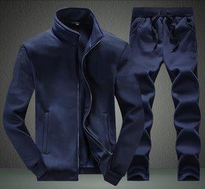 Aismz Tracksuit Men Quality Primavera Men Sporting Hooded Felpa con cappuccio + Pantaloni Two Piece Sweat Set Jogger Track Tuta per vestiti