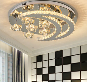 Modern Crystal Chandelier Stainless Steel led Chandelier lighting for livingroom bedroom Ceiling installation modern chandelier
