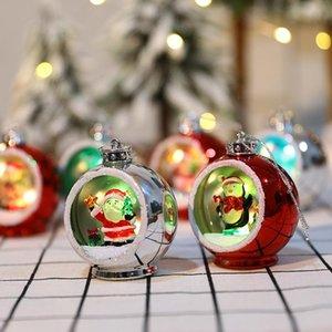 6 Style Christmas Christmas Christmas Ornements Electroplating Lumineux Boule de Noël lumières de Noël Cadeaux de Noël LED Décorations de Noël HWD3314