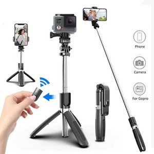 Wireless Bluetooth Selfie Stick Tripod Foldable Tripod Monopods Universal for SmartPhones for Gopro Sports Action Camera Y1128