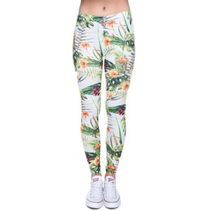 Brand Fashion Camo Rami 3D Stampa 3D di alta qualità Slim Legging Donne Casual Home Leggings Pantaloni donna Q1230