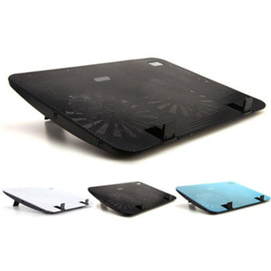 Silent Metal Panel Dual Fan Cooler High Speed Notebook Cooler Laptop Cooling Pad Slim Stand for 15.6 Inch PC Computer