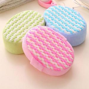 1pcs vente chaude salle de bain sponge massage multi-douche exfoliant corps nettoyage de corps lavable baignade aléatoire loofah sponge 14x11x5cm BWD3217