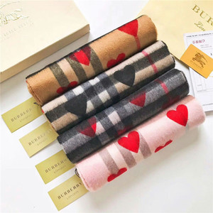 2019 Unisex Fashion Winter Designer 100% Cashmere Scarf Women and Men Brand Luxury Big Size Classic Check Scarves Pashmina Infinity Scarfs