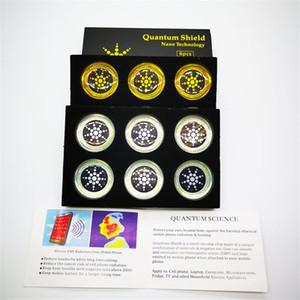 양자 방패 안티 방사선 스티커 에너지 안티 전자기파 휴대 전화 안티 방사선 가제트 6pcs 팩 실버 및 골드 색상