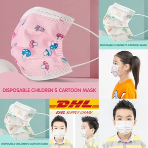 Face And Mask Designer Designer Children's Mask Disposable Three Girls For Boys Layer Children Ventilation Et Face Designer Okoxa