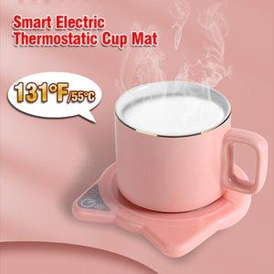 131 ° F / 55 ° C Temperatura costante Tazza da caffè tazza di caffè riscaldamento coaster Coaster Electric Caffè Tè Scaldatore Coppa Termostatica Tappetino tappetino da tappetini Set regalo YL0199