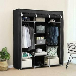 """69 """"armoire portable armoire vêtements amples espace de rangement organisateur armoire libre"""