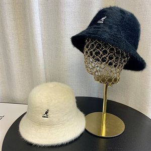 p7iqA Kangol star same autumn and winter kangaroo hat female Stars and stars Plush dome basin hat fisherman