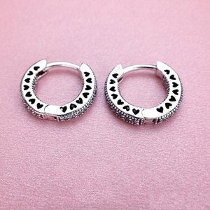 Fast Shipping Heart Hoop Earrings 925 Sterling Silver small ear ring for Women Mens EARRING DDE3209