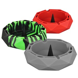 Popular Fashion Ashtrays Creative Silicone Geometry Household Ash Holders Colorful Beautiful New Arrival Ash Tray VT1976