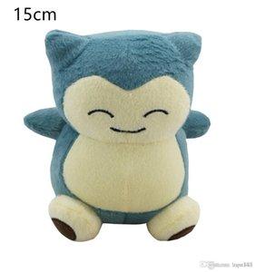 Alta calidad 100% algodón lindo 6inch 15cm Snorlax Peluche juguete para niños vacaciones mejores regalos nopo031
