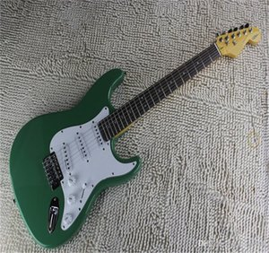 Factory price wholesale Custom Body artist signature SSS Stratocaster green Electric Guitar
