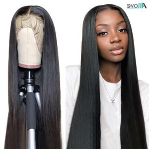 Allove Bone человеческие волосы парики 4x4 Закрытие 13x6x1 Бразильский прямой передний 13x4 кружевной фронтальный парик