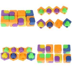 Juguetes de plástico 1pc aliviar el estrés de la persona agitada Color Magic Spinner QQSO dedo