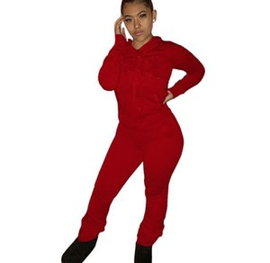 Women Clothes Fashion Sweatsuit 2 Piece Set Hoodies+Pants Sports Suit Fall Winter Sportswear Long Sleeve Tracksuit Letter Suit W23