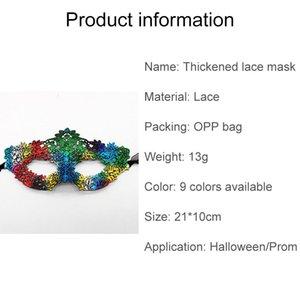 Masque de concepteur de dentelle en dentelle rapide Epaissée Halloween Party Masquerade Sexy Eye Visage Masque F1602