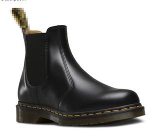 Горячие Продажи кожаные Ботинки Мужчины Мужчины Женщины Зимние Снежные Сапоги Дока Обувь Лодыжка Botas DMS