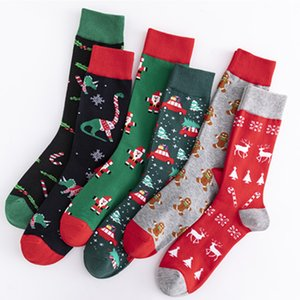 DHL Shipping Winter Women Sock Red Christmas Socking Cute Cartoon Elk Deer Sockings Cotton Keep Warm Gril Boy Soft Socks Kimter-X869FZ