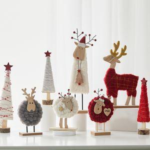 Christmas Tree Christmas Elk Wool Felt Ornaments Desktop Christmas Tree Decoration Shopping Mall Counter Office Desktop Decoration