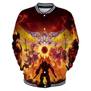 Doom Eternal 3D Printed Baseball Jackets Women Men Fashion Long Sleeve Jacket 2020 Hot Sale Casual Streetwear Clothes