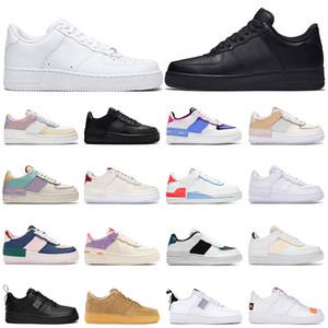 2020 Dunk Low 1 pattini correnti degli uomini delle donne nuova utility triple bianchi Dunks nero uno skate-board mens piattaforma allenatori sportivi sneakers corridori