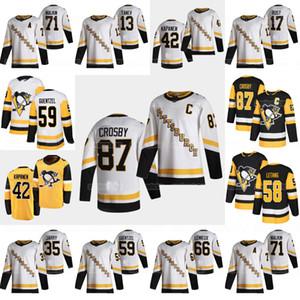 Jeunesse Pittsburgh Penguins 2021 Retro Retro Sidney Crosby Jake Guentzel Kris de Kristanng Kasperi Kapanen Tristan Jarry Malkin Varone Rust Jersey