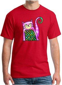 Men's Wealth Full-Confidence Comfort Art Animal Cat Short Sleeve Crew Neck T-Shirts Casual Sweatshirt