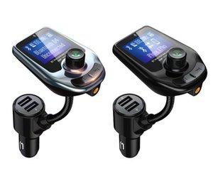 Fio Bluetooth Car MP3 Player Radio D4 D5 Transmissor Adaptador de Áudio QC3.0 Carro Bluetooth FM FM Speaker FAST USB Carregador AUX LCD Display