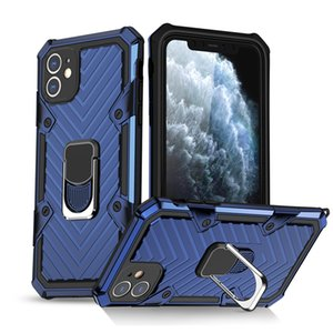 Armor ring Bracket Phone Case For iphone 6 6s 7 8 Plus X Xs XR 11 Pro 12 Mini Max Anti-Fall Shockproof Cover