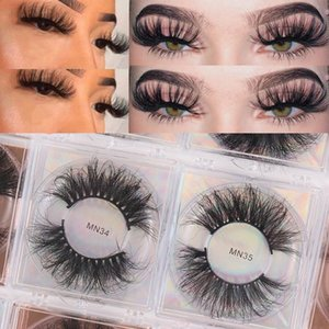 1 Pair New 3D Mink False Eyelashes Long Thick Wispies Fluffy Criss-cross Cruelty-free Handmade Lashes Extension Eye Makeup Tools