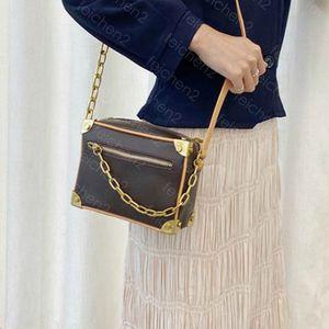 Mini Weiche Kofferraum Satche Klassische Kupplung Box für Frauen Kette Geldbörse Handtaschen Abendtaschen Leder Geldbörse Mode Box Ziegel Messenger Schultertasche