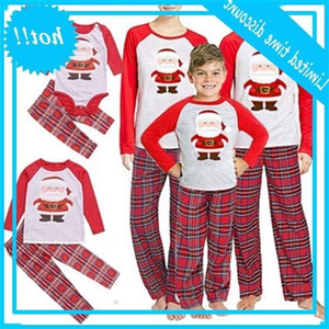 Father Mother Children Pyjama Pjs 2020 Christmas Family matching pajamas Set Top + Broek Xmas Nightwear Baby clothes