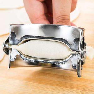 Novas Ferramentas de Pastelaria Eco-Amigável Ferramentas de Aço Inoxidável Maker Maker Wrapper Cutter Torta Ravioli Molde de Molde de Cozinha Acessórios CCD3502