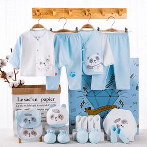 18 PCS 0-12mouth baby set boy girl clothes 100% cotton infant suit baby girl clothes outfits pants baby clothing sets Q0105