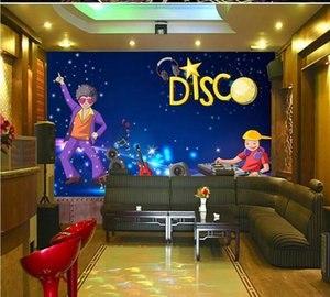 Envío de gota Papel pintado personalizado Mural Karaoke Bar KTV Tall Tall Tall Fondo Fondo Papel pintado Ocio Bar Mural Pintura Decorativa