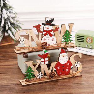 Ornamenti natalizi Merry Christmas Decor in legno per la casa 2021 Navidad Cristmas Decorazioni Xmas Regali di Natale Capodanno DWA3111