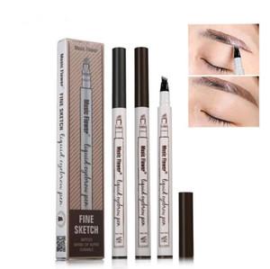 2020 Líquido Líquido Lápis 4 Forquilha Micro Micro Cinzelando Muito Fino Impermeável à Prova D 'Água Enhancer Eye Brow Tattoo Pen 3 Cores Frete Grátis