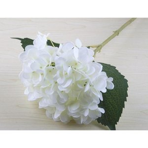 18 색 인공 수국 꽃 가짜 실크 단일 진짜 터치 꽃다발 수국 웨딩 센터 홈 홈 BBYJBY BDE_LUCK
