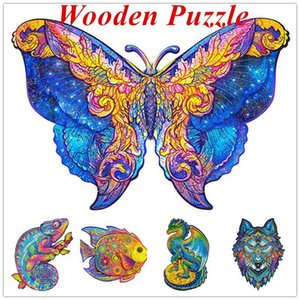 NEW Arrive! A5 Wooden Puzzle Jigsaw Unique Shape Jigsaw Pieces Charming Owl Wooden Jigsaw Puzzle Best Gift for Adults and Kids