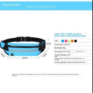 Outdoor sports waist fitness running bag waterproof mobile phone .sports . kettle waist bag custom factory