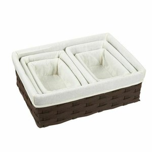 Juvale Wicker Basket Storage Baskets for Shelves with Woven Liner (5 Pack)