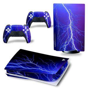 PS5 디스크 용 구름 디자인 VINY 데칼 스티커 콘솔 + 2 컨트롤러 스킨 스티커 소니 플레이 스테이션 5 게임 액세서리 Y1201