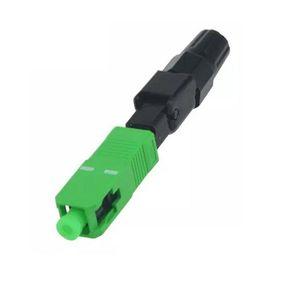 100pcs SC APC Fast Connector SC FAST connector blue fibra FTTH single mode quick Field Assembly