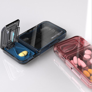 Pill Cutter Stainless Steel Blade Splitter Half Storage Compartment Box Portable Medicine Tablet Holder Home Storage Box DHC5727
