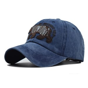 Fashion Bear Embroidery Baseball Cap Outdoor Cap Made Old Cotton Washed Male Outdoor Casual European and American Cap