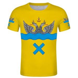 ORENBURG t shirt Free custom name number Flag of Orenburg T-shirt logo printing Russian Russian City Flags clothing