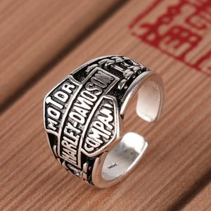 New Hot Sales High Quality Luxury Fashion Men Personality Retro Punk Ring Titanium Steel Motorcycle Jewellery Gifts